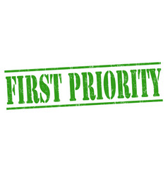 First priority sign or stamp vector