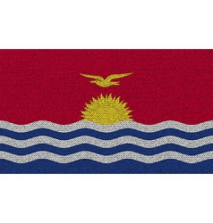 Flags Kiribati on denim texture vector image