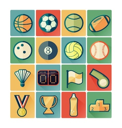 flat icons sport vector image