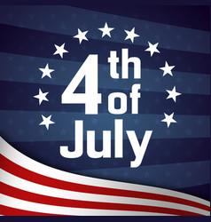 Fourth july retro poster template vector