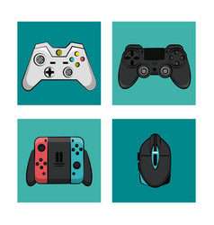 gamepads technology icons vector image