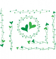 heart decoration vector image