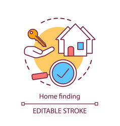 Home finding concept icon relocating services new vector