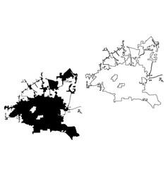Houston city map vector