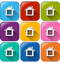 Icons with houses vector