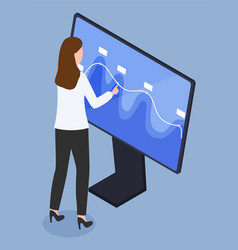 Innovative technology with touchscreen pc vector