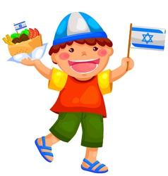israeli kid vector image