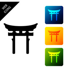 japan gate icon isolated on white background vector image