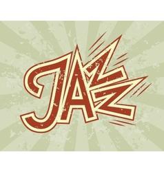 Jazz flyer vector image