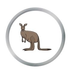 Kangaroo icon in cartoon style isolated on white vector image