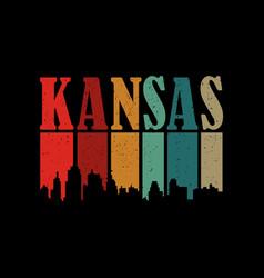 Kansas city retro vintage vector