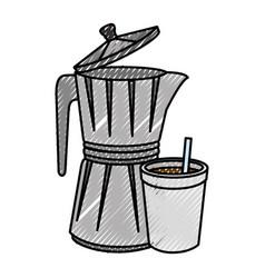 kettle kitchenware utensil vector image