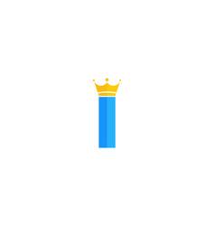 King letter i logo icon design vector