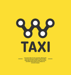 logo for a taxi company vector image