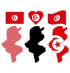 Map of Tunisia vector