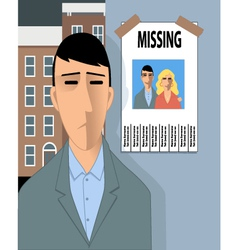 Missing happiness vector image