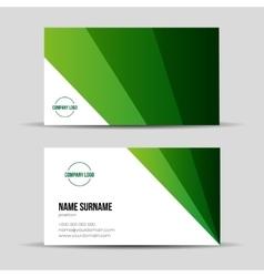 Modern green business card template vector image