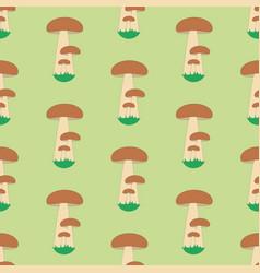 Mushroom seamless pattern vector