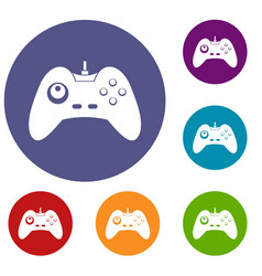 One joystick icons set vector