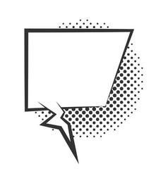 pop art comic speech bubble halftone style line vector image