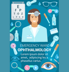 Poster for ophthalmology medicine vector