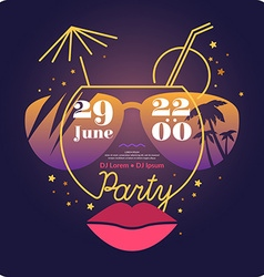 Poster summer night discos vector image