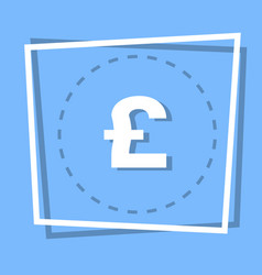 pound sign icon currency web button vector image