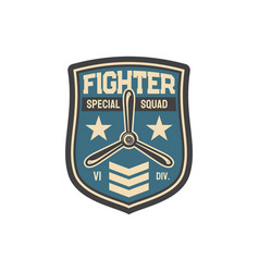 Propelled jet emblem military army chevron patch vector