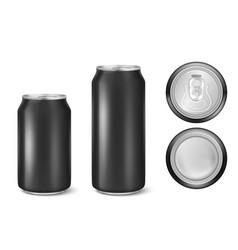 Realistic 3d black empty glossy metal black vector