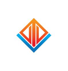 rectangular arrow business logo vector image