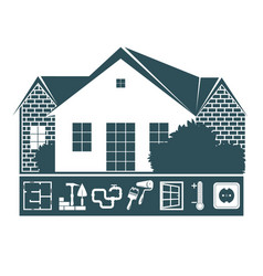 repair and maintenance of house vector image