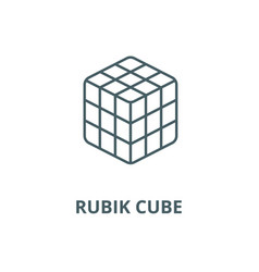 rubik cube line icon linear concept vector image