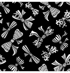 Seamless pattern of various bows vector