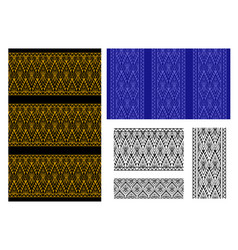 Seamless thai tribal pattern and border vector