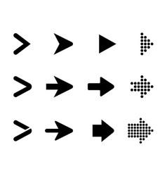 set black arrows arrows collection vector image