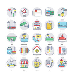 set of home services icons vector image