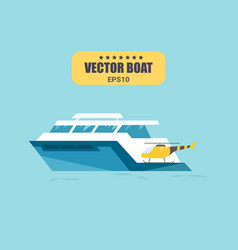 ship at sea transport shipping boats in vector image