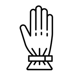 ski glove icon outline style vector image