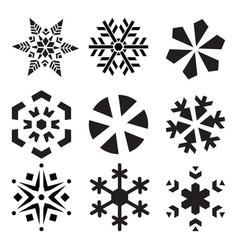 Snowflakes set - christmas design elemen vector