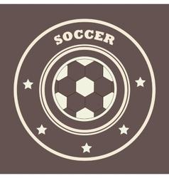 soccer league design vector image