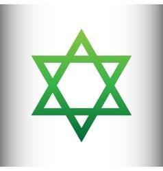 Star Green gradient icon vector