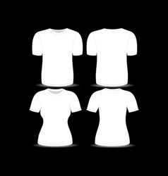 T shirt white template vector image