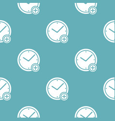 time plus pattern seamless blue vector image
