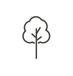 tree icon line tree symbol vector image