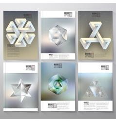 Unreal impossible geometric figures polygon vector