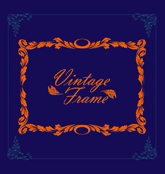 vintage border frame engraving frame and vector image