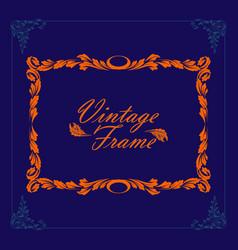 vintage border frame engraving frame vector image