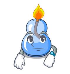 Waiting alcohol burner mascot cartoon vector