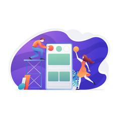 web mobile application user design internet vector image