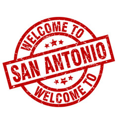 Welcome to san antonio red stamp vector